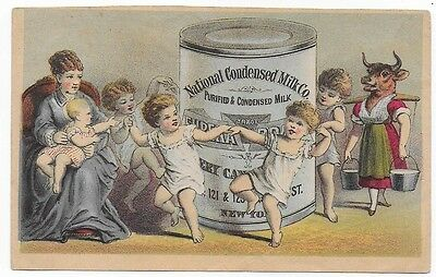 National Condensed Milk Company Victorian Trade Card
