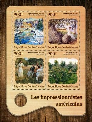 Z08 CA16701a CENTRAL AFRICA 2016 American Impressionists MNH