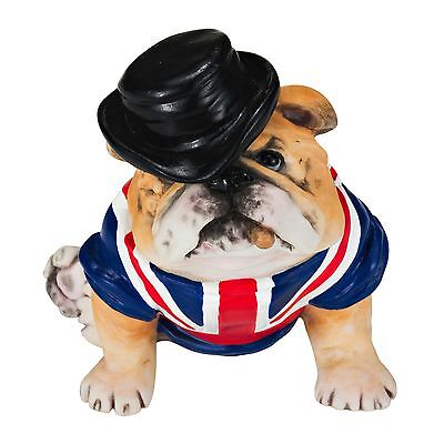 "British Bulldog Statue with Union Jack Sculpture 3"" - Handpainted"