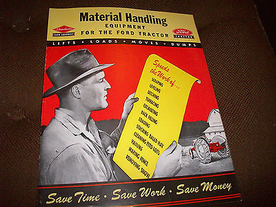 1949 Dearborn Material Handling Equipment for Ford Tractor Brochure
