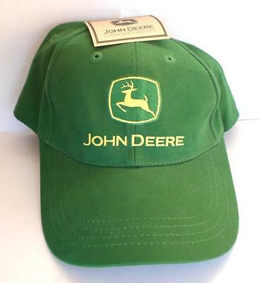 John Deere Farm Tractor Embroidered Baseball Cap Hat Cotton Adjustable 1 size