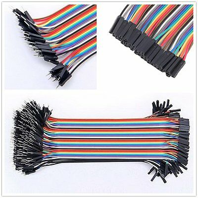 AU 40PCS Jumper Wire Cable 1P-1P 2.54mm 10/20cm For Arduino Breadboard Sale OO