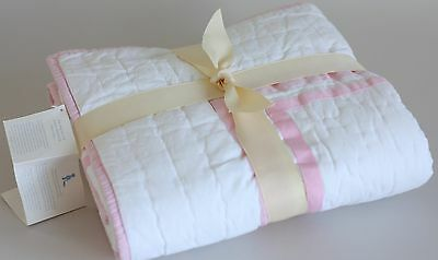 Pottery Barn PB Kids Girls Pink Harper Nursery Crib Quilt