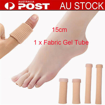 AU Fabric Gel Tube Bandage Finger & Toe Protectors Foot Feet Pain Relief OO
