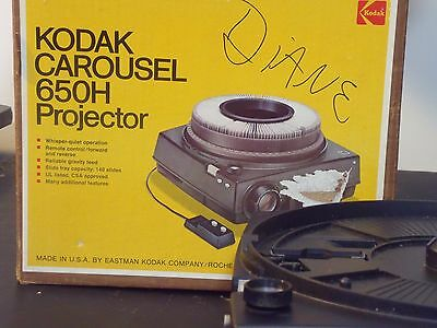 Kodak Carousel 650H Slide Projector, missing remote and slide trays