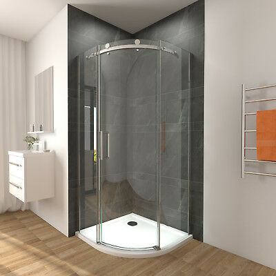 900x900x1950mm NEW Frameless Curved Shower Screen Enclosure Round Sliding Door