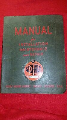 Gisholt 1L Turret Lathe Installation, Maintenance and Repair Manual