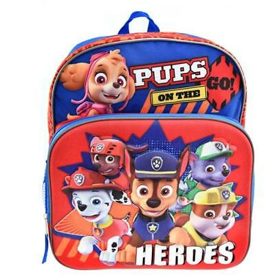 "Paw Patrol PINK Girls' Skye and Friends 16"" Backpack w/ Lunch bag  kindergarten"