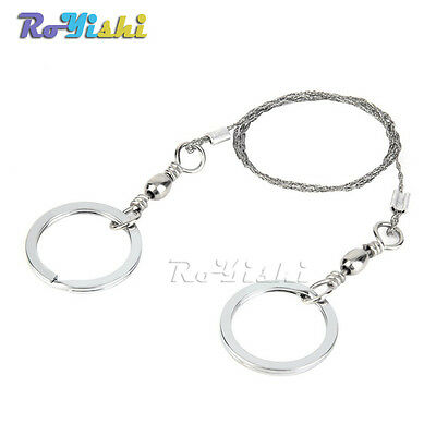 Steel Wire Saw Rope Emergency Survival Gear Camping Hiking Outdoor EDC Tools