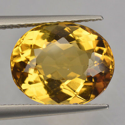 4.37 Cts Top Quality Rare Golden Yellow Color Natural Beryl Gemstone