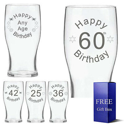 Personalised Engraved Beer Glass 550cc Best Men Father Day Wedding Birthday gift