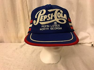 Vintage Pepsi Cola Loves North Georgia SnapBack Trucker Hat Made In USA Rare