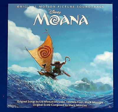 O.S.T - Moana A Ver. Official Unfolded Posters Hard Tube Case