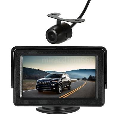 "Wireless Car Truck Bus Reverse Rear View Backup Camera 4.3"" TFT LCD Monitor Z6K8"