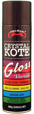 Helmar Crystal Kote Gloss Picture Varnish Clear Spray 400g