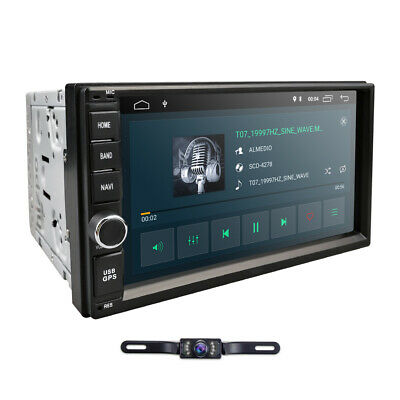 """Quad Core Android 9.0 4G WIFI 7"""" Double 2DIN Car Radio Stereo MP3 Player GPS Nav"""