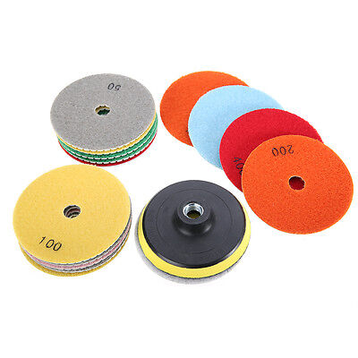 "16pcs 4"" inch 100mm Diamond Polishing Pads Wet/Dry Granite Stone Concrete Marble"