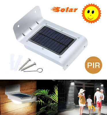PIR Outdoor Garden Patio Solar Powered Door Fence Wall Gutter Lantern LED Lights