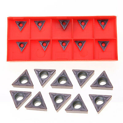 10 Pcs TCMT 731 Carbide Inserts C6 Grade For 1/4 & 5/16'' Turning Tools 2mm 10mm