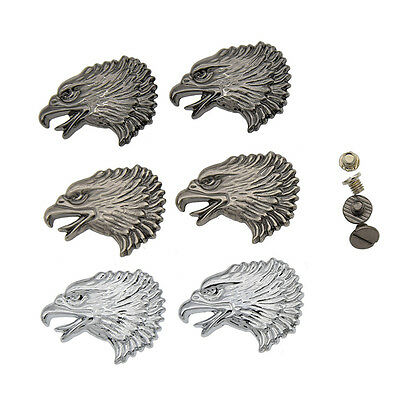 2 Pcs Western Eagle Screwback Concho Buttons DIY Sewing Handmade Sew On Craft