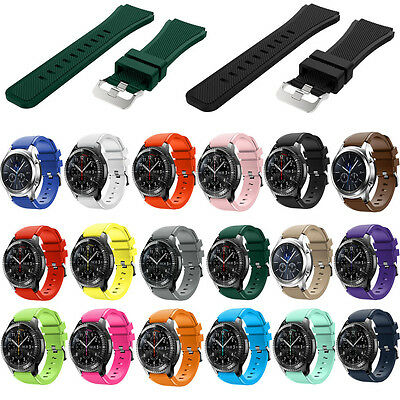 Silicone Watch Band Rubber Wrist Strap For Samsung Gear S3 Frontier Classic 22mm
