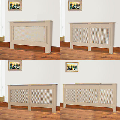MDF Wood Radiator Cover Shelf Small Medium Adjustable Large Cabinet Traditional
