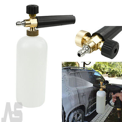 1L Car Pressure Washer Snow Foam Lance Cannon With 1/4'' Quick Connect Adapter