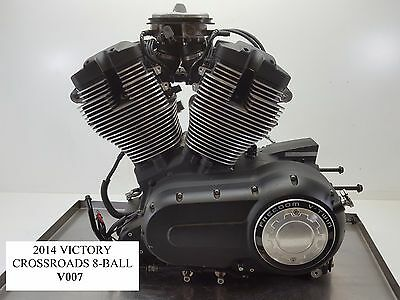 2014 Victory Cross Roads 8-Ball 106ci Engine Motor Compr Test VIDEO 10-16 V007