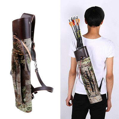 Portable Camo Target Hunting Archery Quiver Back Bag Arrow Bow Holder Pouch
