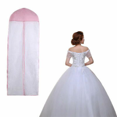 """61"""" Wedding Prom Dress Gown Garment Clothes Cover Dustproof Bag Zip NEW"""
