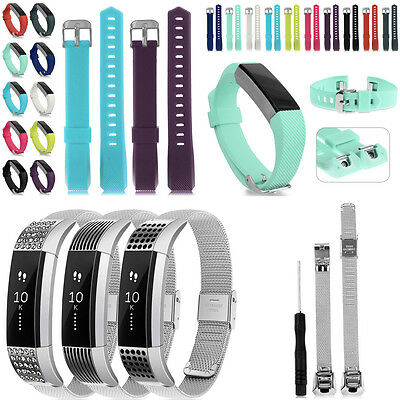 Silicone/Stainless Steel Replacement WristsBand  Strap Bracelets For Fitbit Alta