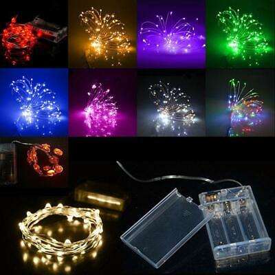 2~ 4M 40 LEDs Battery Operated Mini LED Copper Wire String Fairy Lights DB DB