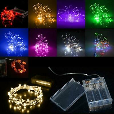 4M 40 LEDs Battery Operated Mini LED Copper Wire String Fairy Lights DB DB