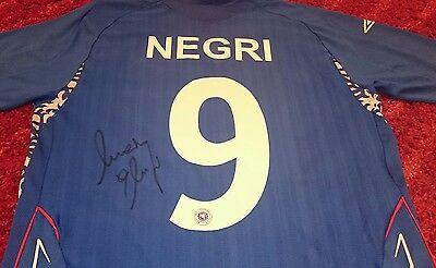 Marco Negri signed rangers shirt / photo proof  COA