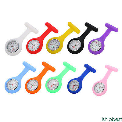 Silicone Nurse Doctor Brooch Fob Pendant Pocket Watch Fobwatch Watch New Hanging