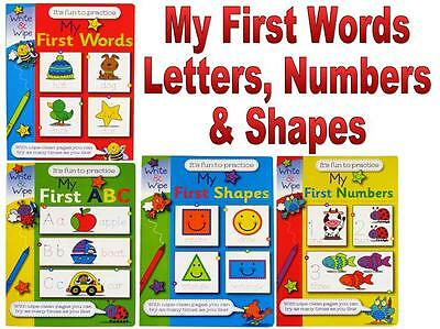 My First Letters Numbers Words & Shapes Educational Toddlers Pre School Gift