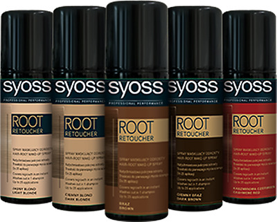 SYOSS  Professional Root Retoucher Spray Covers Greys Roots /Choose Colour 120ml