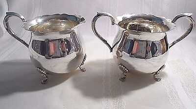 Fisher for Jack Shepard Sterling Silver Footed Sugar Bowl, Creamer  c1950 #768