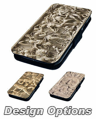 Roman Carving Designs - Printed Faux Leather Flip Phone Cover Case #1