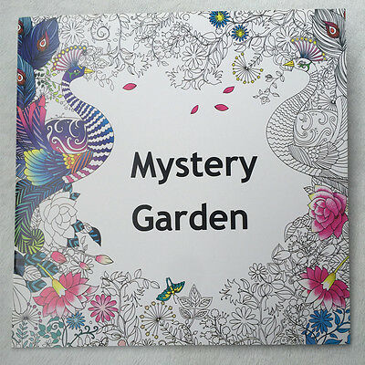 English Adult Secret Garden mystery Garden Treasure Hunt Coloring Book