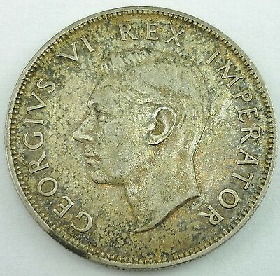 1941 South Africa 2 1/2 Shillings George VI Silver Coin KM# 30  ~3924~