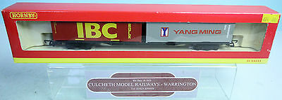 Hornby 'oo' Gauge R6140 Container 2X 30Ft 'ibc Bulk-Yang Ming' Wagon Boxed