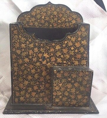 Very Old Paper Mache Letter Pen Holder Persian ? Turkish ?
