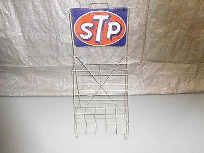 Vintage STP Store Advertising Display Stand w/Swinging Double Sided STP Sign