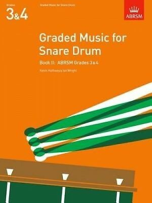 ABRSM Graded Music for Snare Drum (Grades 3-4) Book 2 - Same Day P+P