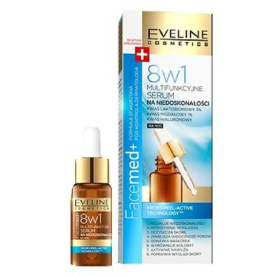 Eveline 8in1 Multifunctional Face Serum for Imperfections Night Serum Facemed+