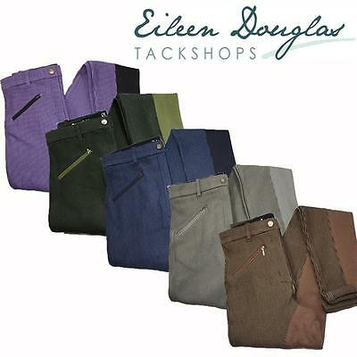 Ladies Cotton Zip Fronted Jods NEW! - 5 Colour Various Sizes Jodhpurs Jodphurs