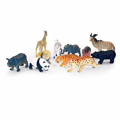 Toy Wild Animals Plastic Model Safari Figure Nature Zoo Tiger Lion Panda Big Cat