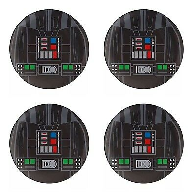 """Set Of 4 Star Wars DARTH VADER 10"""" Lunch Dinner Plates By Zak! NWT BPA FREE"""