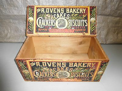 Antique The R. Ovens Bakery Buffalo New York Colorful Advertising Box/Crate